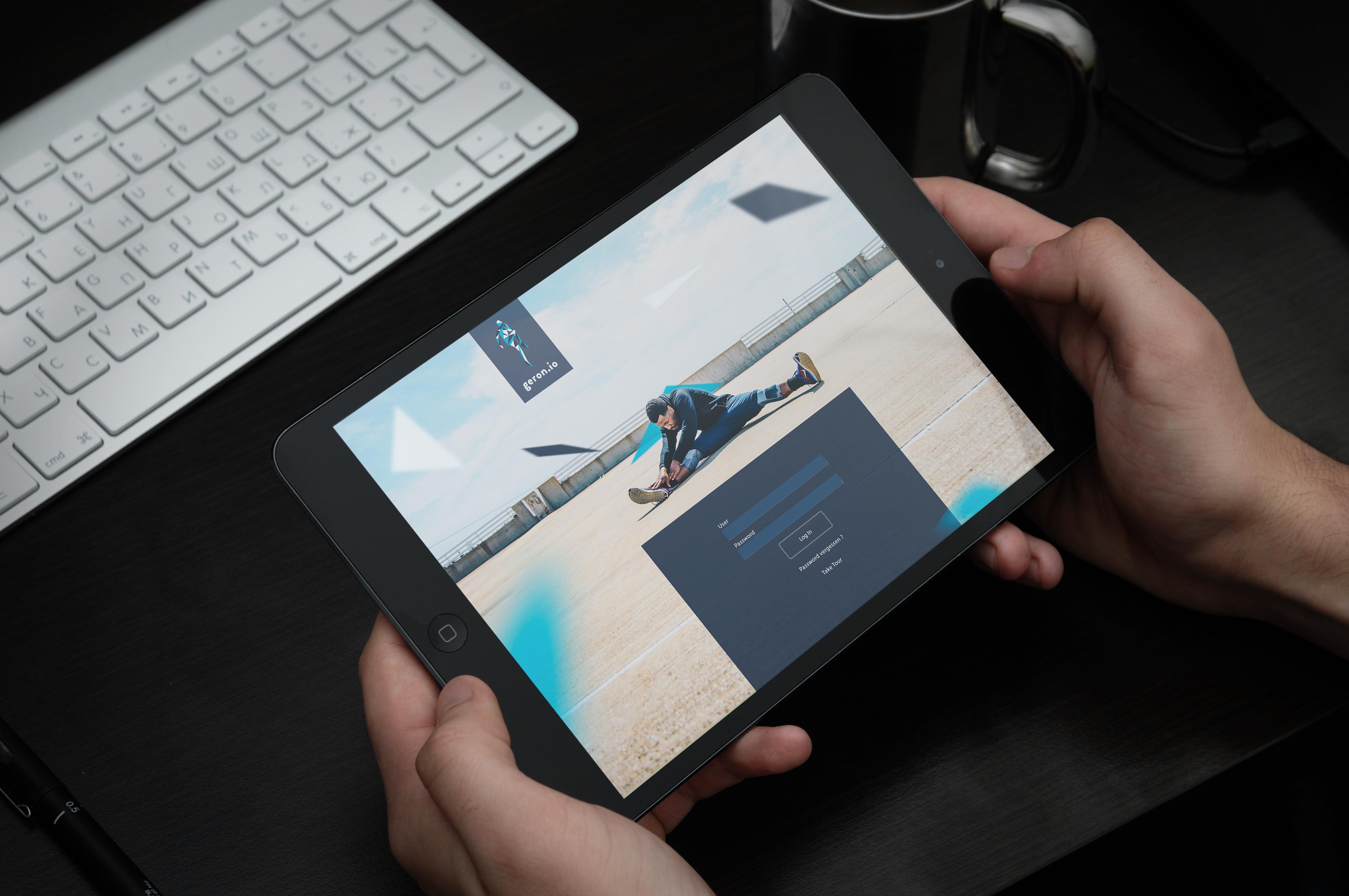 iPad in hands